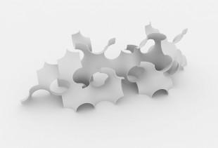 Flake ceramic
